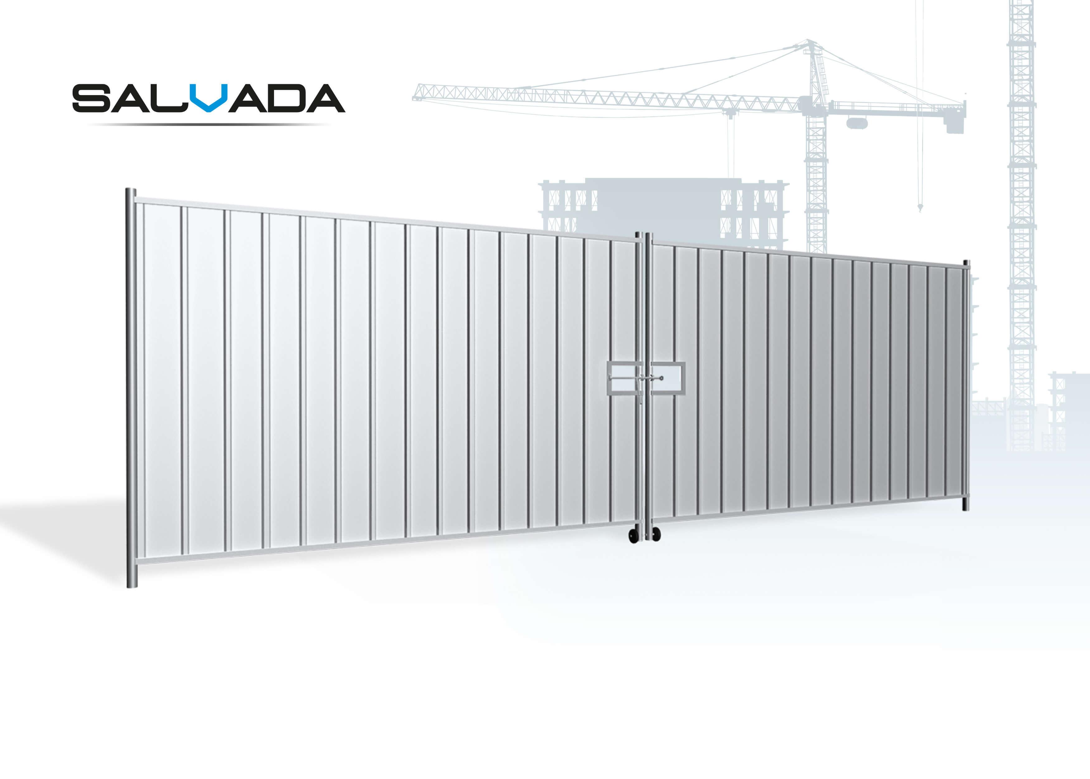 Brama tymczasowa pełna<br /> 2-skrzydłowa 5,8 m