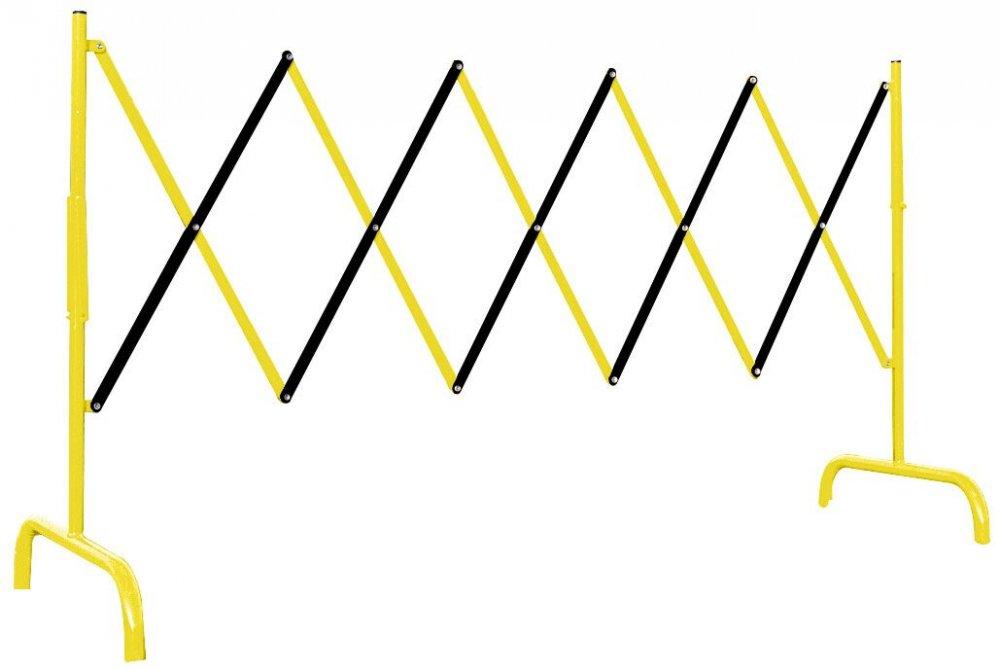 BARIERA NOΩYCOWA (HARMONIJKOWA) – DùUGOSè ROBOCZA DO 300 CM – LINIOWA – Ω‡ùTO-CZARNA